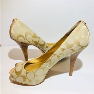 Brand New Coach Signature Heels